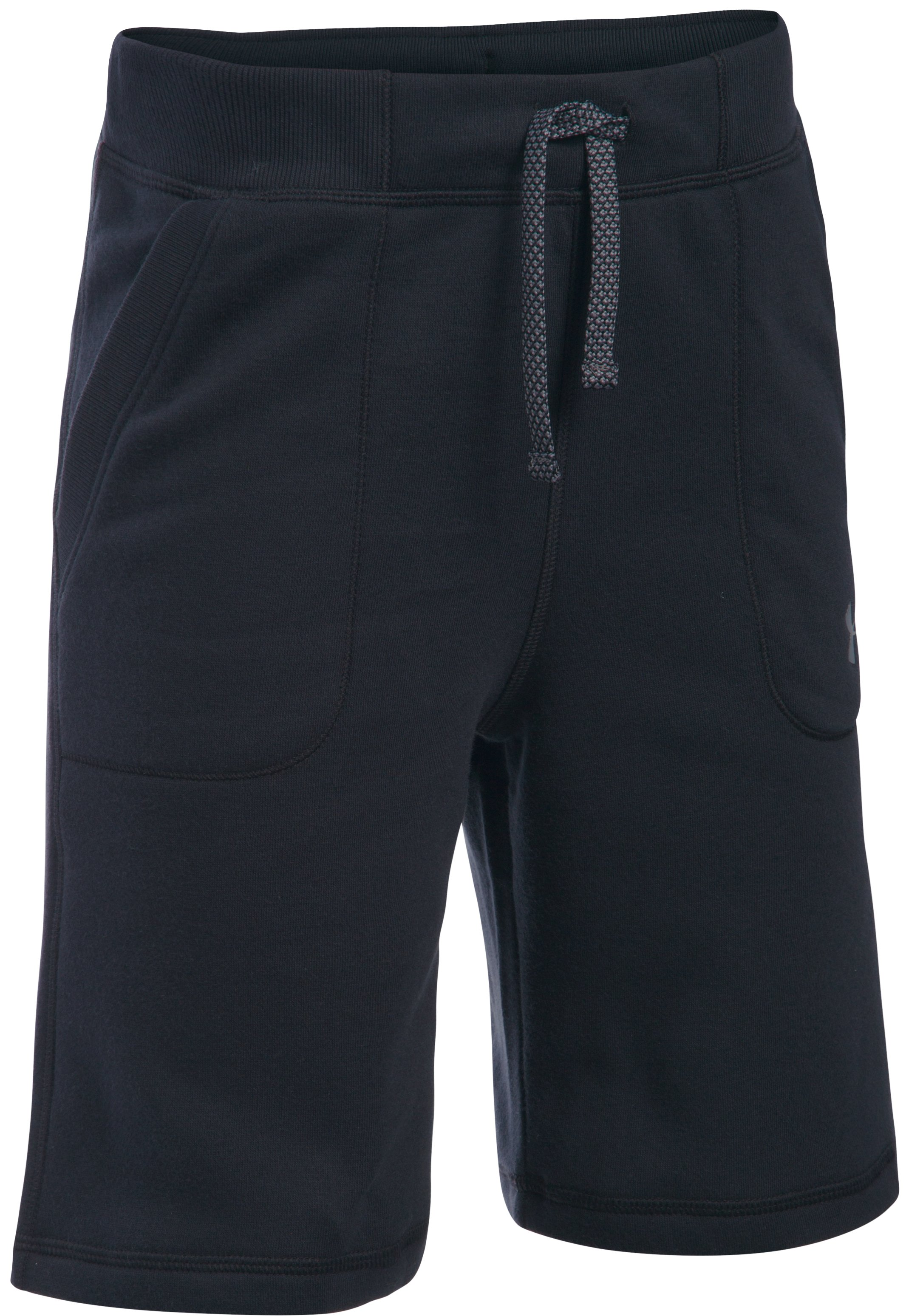 Boys' UA Titan Fleece Shorts, Black , undefined