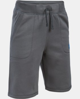 New Arrival Boys' UA Sportstyle Fleece Shorts LIMITED TIME: FREE SHIPPING 1 Color $34.99