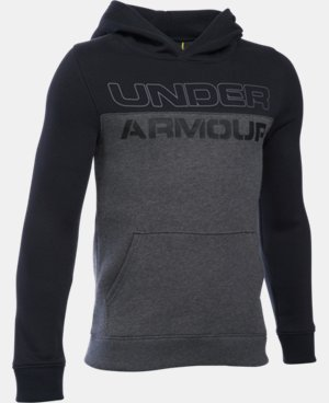 New Arrival  Boys' UA Sportstyle Fleece Hoodie LIMITED TIME: FREE SHIPPING 2 Colors $49.99