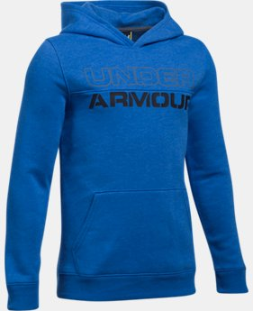 New Arrival  Boys' UA Sportstyle Fleece Hoodie LIMITED TIME: FREE SHIPPING 3 Colors $49.99
