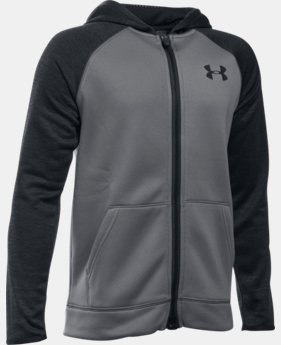 New Arrival  Boys' UA Storm Armour® Fleece Full Zip Hoodie  2 Colors $74.99