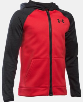 New Arrival  Boys' UA Storm Armour® Fleece Full Zip Hoodie  1 Color $74.99