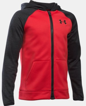 Boys' UA Storm Armour® Fleece Full Zip Hoodie  1 Color $64.99