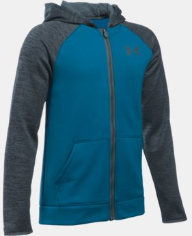 Boys' UA Storm Armour® Fleece Full Zip Hoodie LIMITED TIME: FREE U.S. SHIPPING 1 Color $48.99