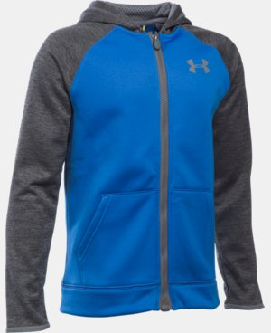 Boys' UA Storm Armour® Fleece Full Zip Hoodie LIMITED TIME: FREE U.S. SHIPPING  $64.99