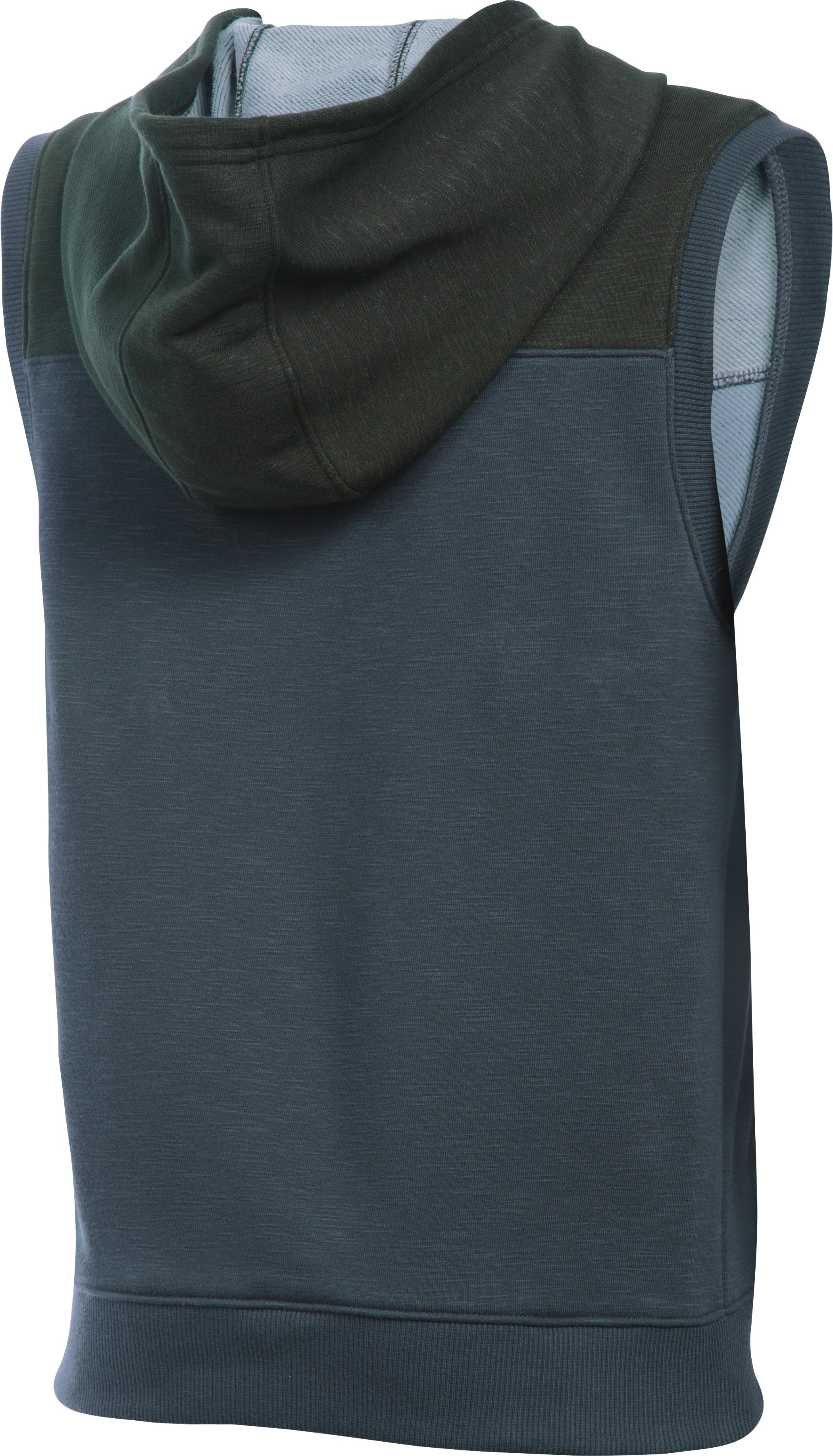 Boys' UA Click-Clack Sleeveless Hoodie, STEALTH GRAY