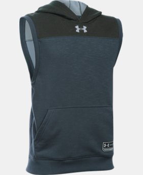 Boys' UA Click-Clack Sleeveless Hoodie  1 Color $39.99