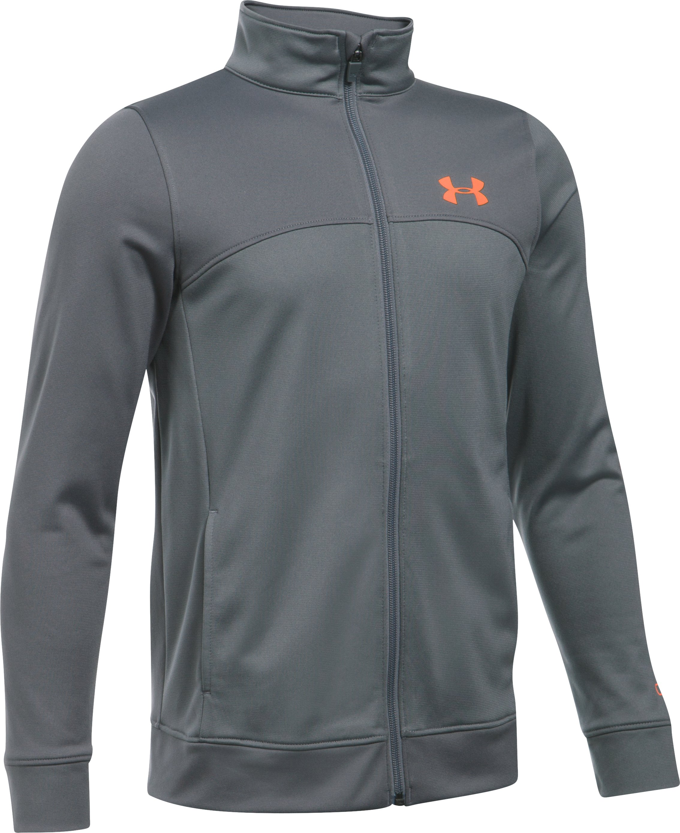Boys' UA Pennant Warm-Up Jacket, Graphite