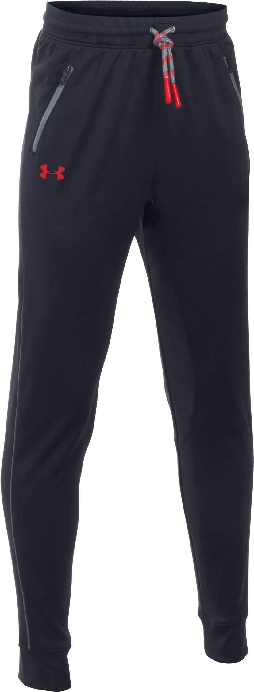 Boys' UA Pennant Tapered Pants, Black , zoomed image
