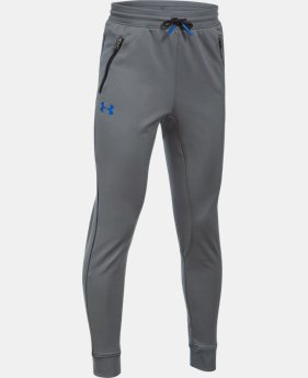 Boys' UA Pennant Tapered Pants  5  Colors Available $23.99 to $29.99