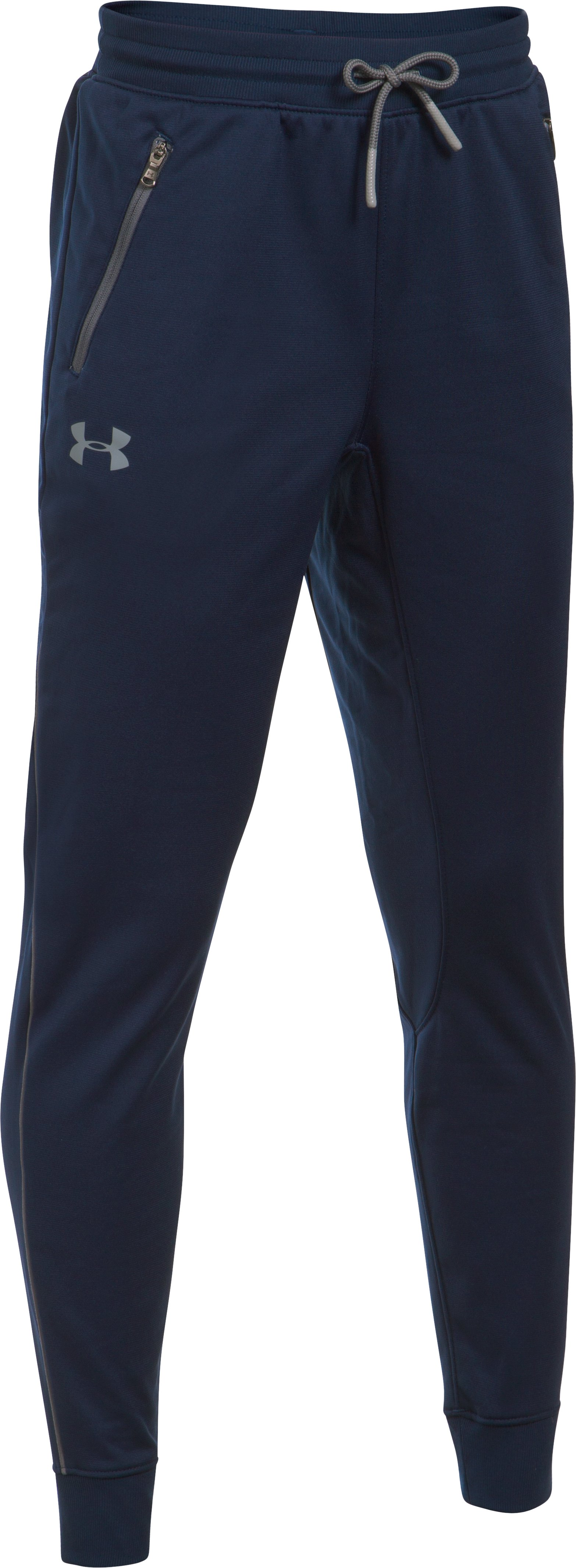 midnight navy pants Boys' UA Pennant Tapered Pants Good fit!...I luv em!...Best pants ever!