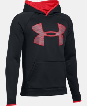 Boys' UA Storm Armour® Fleece Highlight Big Logo Hoodie  19 Colors $37.49