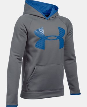 Boys' UA Storm Armour® Fleece Highlight Big Logo Hoodie  4 Colors $37.49
