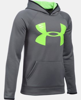Best Seller Boys' UA Storm Armour® Fleece Highlight Big Logo Hoodie  11 Colors $44.99