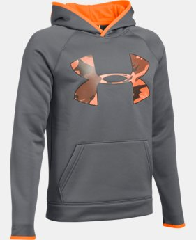 Boys' UA Storm Armour® Fleece Highlight Big Logo Hoodie  1 Color $26.99 to $27.99