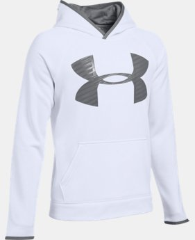 Boys' UA Storm Armour® Fleece Highlight Big Logo Hoodie  1 Color $37.49