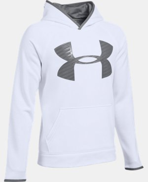 Boys' UA Storm Armour® Fleece Highlight Big Logo Hoodie  1 Color $44.99