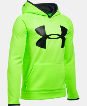 New to Outlet Boys' UA Storm Armour® Fleece Highlight Big Logo Hoodie LIMITED TIME OFFER + FREE U.S. SHIPPING 6 Colors $29.99