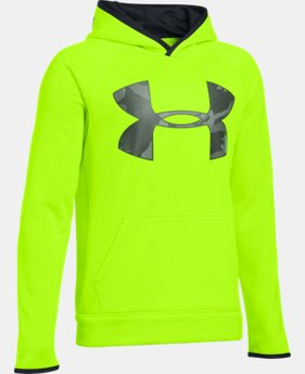 Boys' UA Storm Armour® Fleece Highlight Big Logo Hoodie  1 Color $33.99