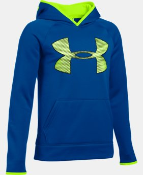 Boys' UA Storm Armour® Fleece Highlight Big Logo Hoodie  5 Colors $37.49