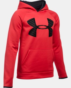 Boys' UA Storm Armour® Fleece Highlight Big Logo Hoodie LIMITED TIME: FREE SHIPPING 13 Colors $37.49