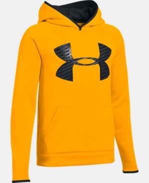 New to Outlet Boys' UA Storm Armour® Fleece Highlight Big Logo Hoodie LIMITED TIME OFFER + FREE U.S. SHIPPING 1 Color $29.99