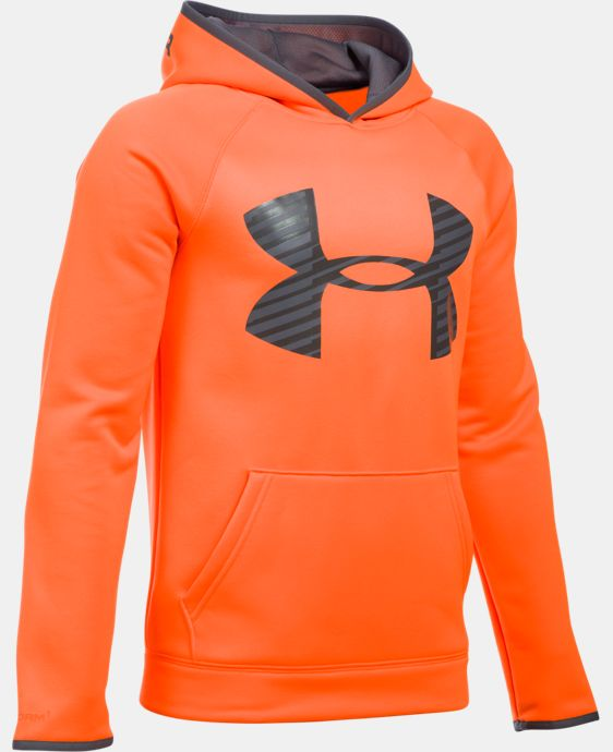 New to Outlet Boys' UA Storm Armour® Fleece Highlight Big Logo Hoodie LIMITED TIME: FREE U.S. SHIPPING 2 Colors $29.99
