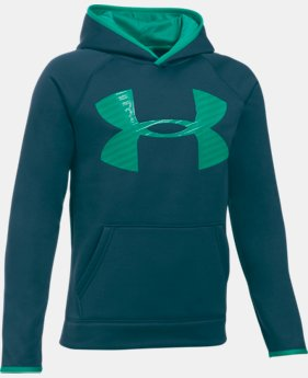 Boys' UA Storm Armour® Fleece Highlight Big Logo Hoodie  4 Colors $20.24 to $25.49