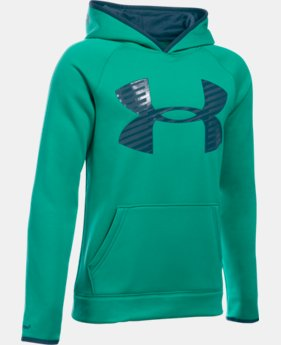 Boys' UA Storm Armour Fleece® Highlight Big Logo Hoodie  4 Colors $26.99 to $33.99