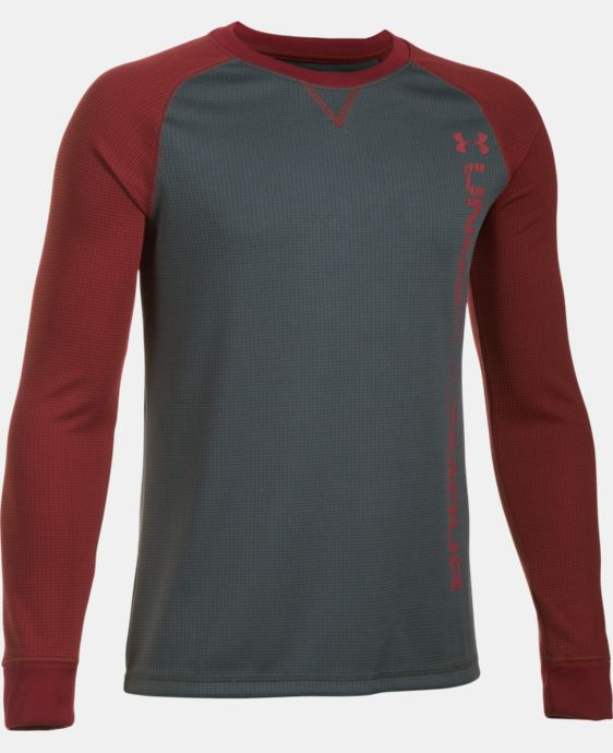 Boys' UA Waffle Crew LIMITED TIME: 15% OFF 1 Color $34.99