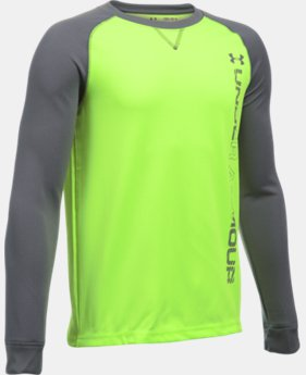 Boys' UA Waffle Crew LIMITED TIME: FREE SHIPPING 1 Color $34.99