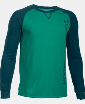 Boys' UA Waffle Crew LIMITED TIME: 15% OFF 2 Colors $34.99