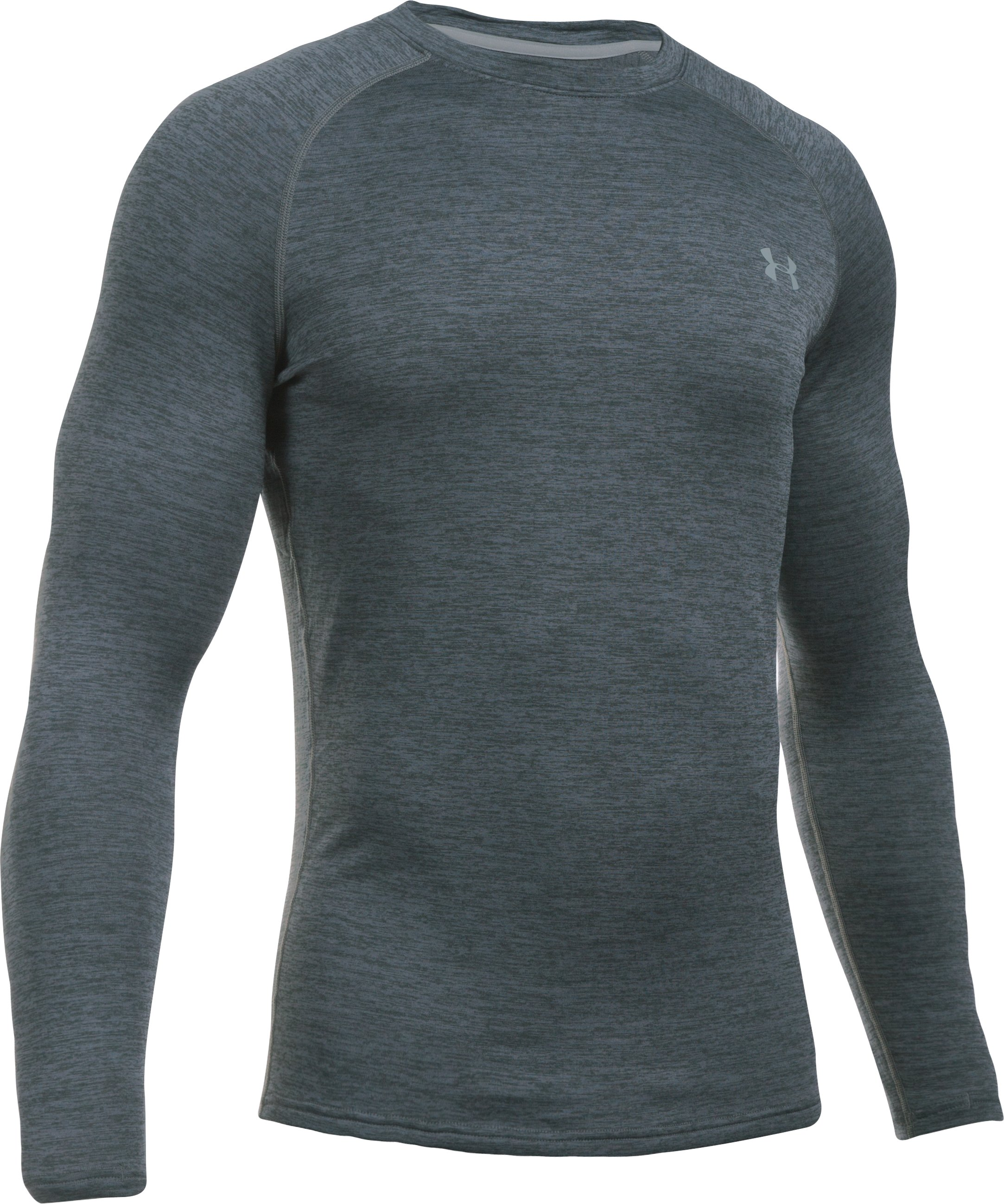 Men's UA Base™ 3.0 Crew, Lead, undefined