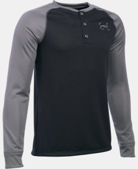Boys' UA Waffle Henley LIMITED TIME: FREE SHIPPING 2 Colors $34.99