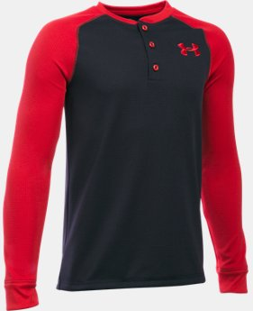 Boys' UA Waffle Henley LIMITED TIME: FREE SHIPPING 1 Color $39.99