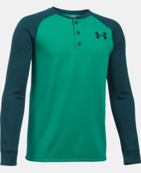 New to Outlet Boys' UA Waffle Henley  6 Colors $26.99