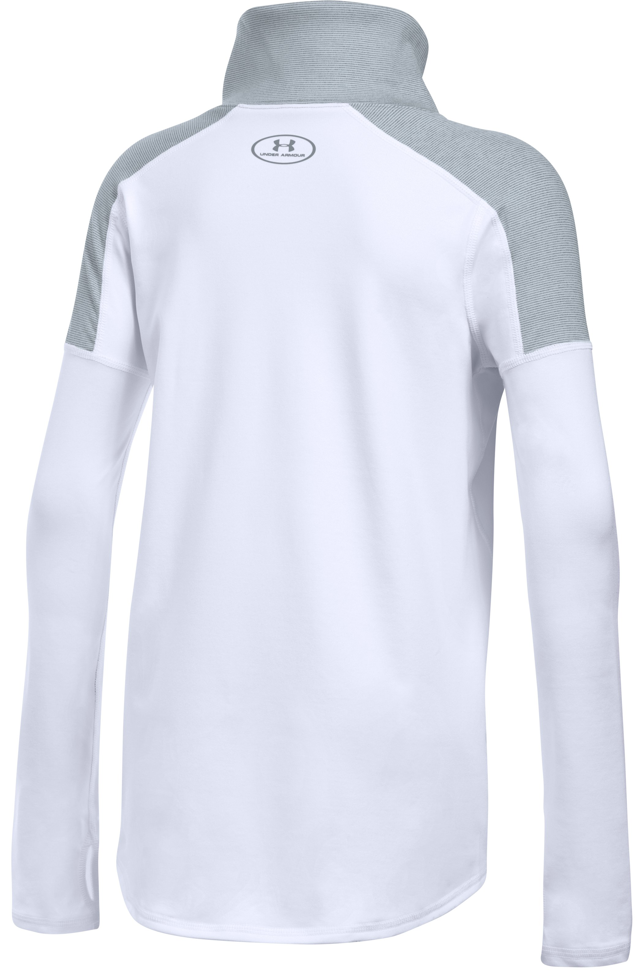 Girls' UA Cozy ColdGear® Long Sleeve, White, undefined