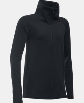 Girls' UA ColdGear® 1/2 Zip LIMITED TIME: 25% OFF 1 Color $37.49