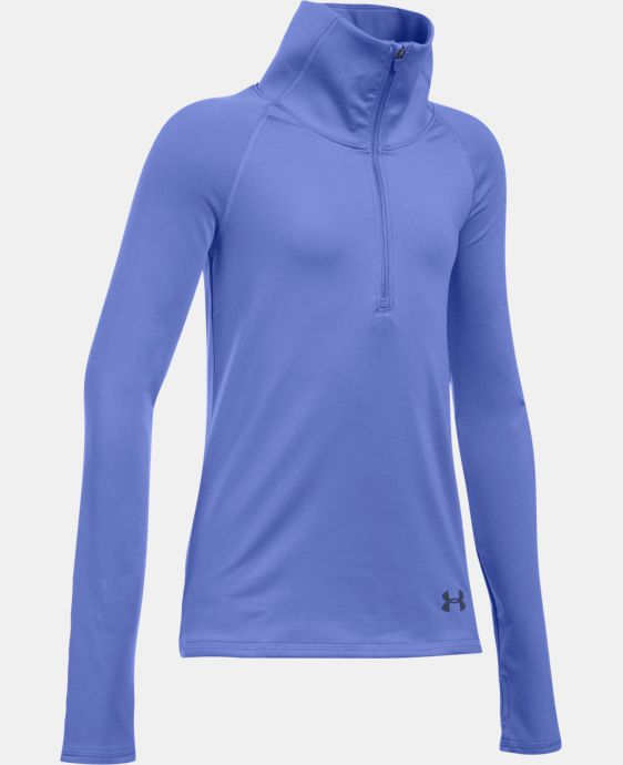 Girls' UA ColdGear® 1/2 Zip LIMITED TIME OFFER + FREE U.S. SHIPPING 2 Colors $37.49