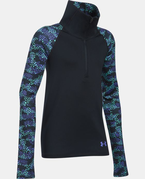 Girls' UA ColdGear® Printed 1/2 Zip LIMITED TIME OFFER + FREE U.S. SHIPPING 2 Colors $41.24