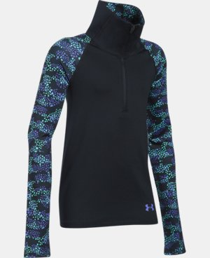 New Arrival Girls' UA ColdGear® Printed 1/2 Zip   $54.99