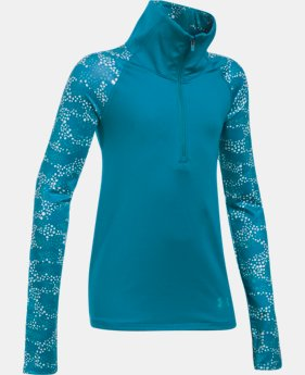 New Arrival Girls' UA ColdGear® Printed 1/2 Zip  1 Color $54.99