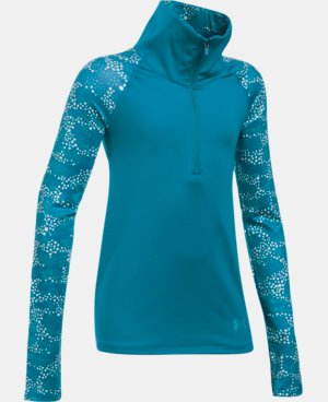 Girls' UA ColdGear® Printed 1/2 Zip LIMITED TIME OFFER + FREE U.S. SHIPPING  $41.24