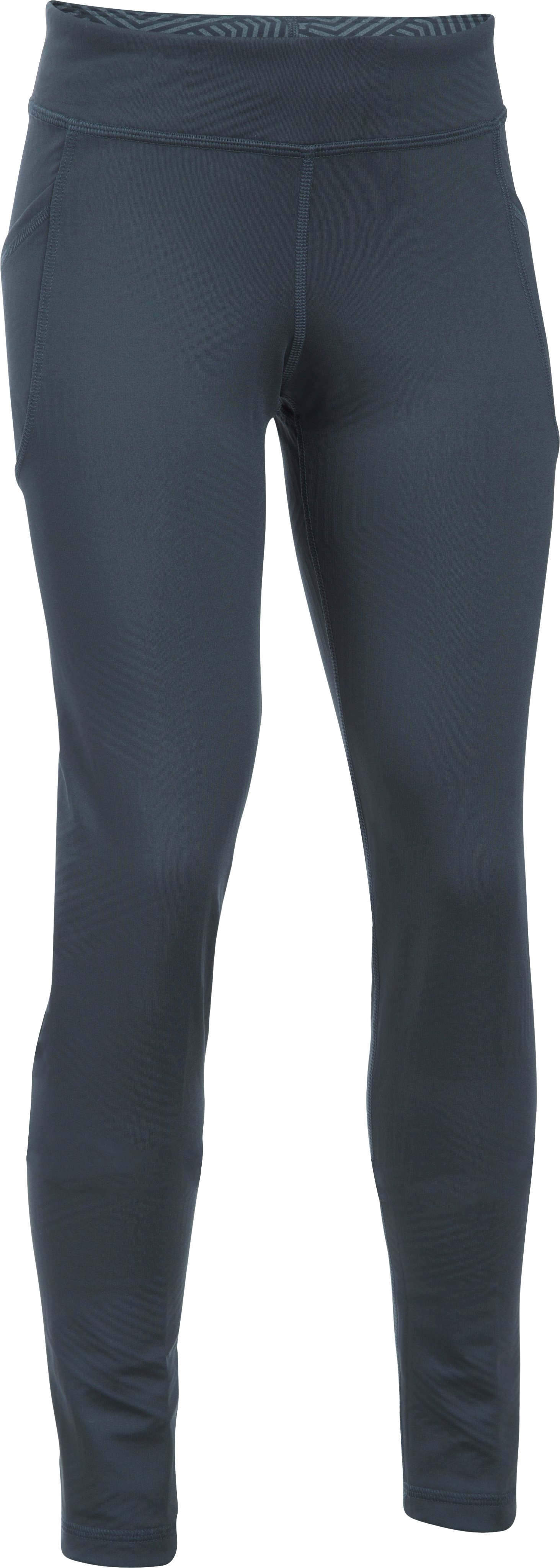 Girls' UA ColdGear® Infrared Exclusive Legging, STEALTH GRAY, zoomed image