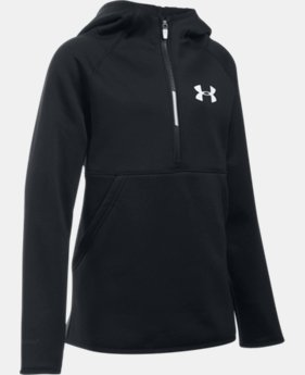 Girls' UA Armour® Fleece 1/2 Zip Hoodie  1 Color $21.37