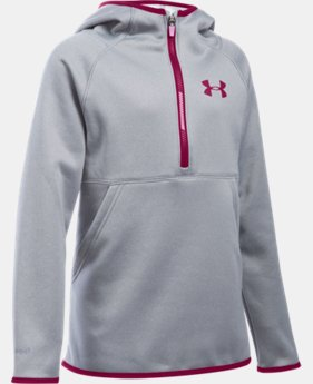 Girls' UA Armour® Fleece 1/2 Zip Hoodie  2 Colors $37.99