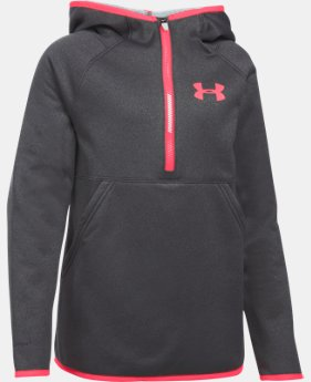 Girls' UA Armour® Fleece 1/2 Zip Hoodie LIMITED TIME OFFER + FREE U.S. SHIPPING  $29.99