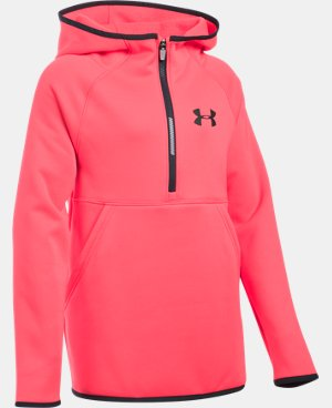 New Arrival  Girls' UA Armour® Fleece 1/2 Zip Hoodie   $59.99