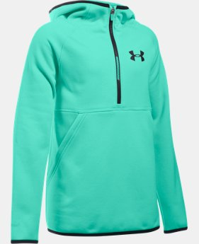 New Arrival Girls' UA Armour® Fleece 1/2 Zip Hoodie   $49.99