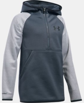 Girls' UA Armour® Fleece Printed 1/2 Zip Hoodie  1 Color $33.99